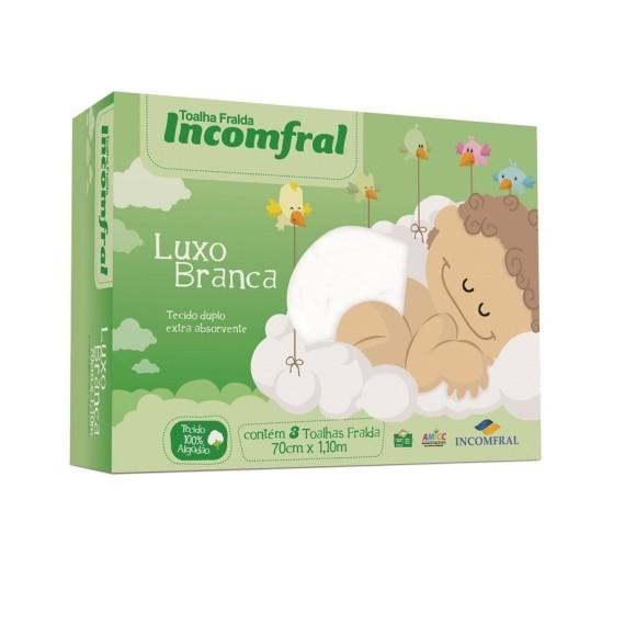 TOALHA FRALDA LUXO C/3 LISA
